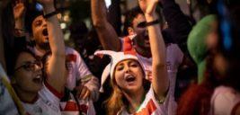 تصاویری جالب از حال وهوای خیابان های مسکو با حضور هواداران ایرانی