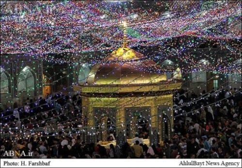 بازیگران در حرم امام رضا