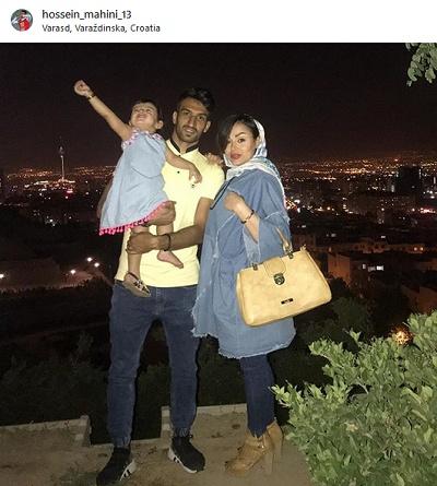 حسین ماهینی فوتبالیست مشهور