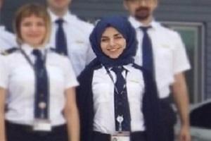اولین خلبان محجبه در ترکیه آماده پرواز می شود