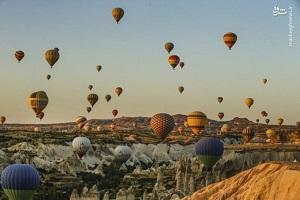 تصاویری زیبا از آسمانی برای بالون سوارها