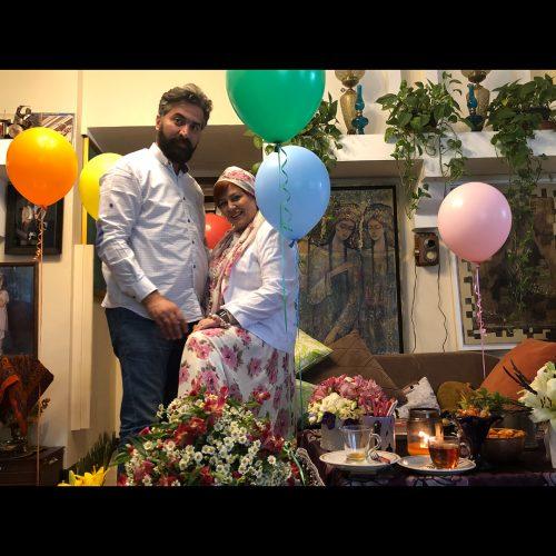بهاره رهنما و همسرش دست در دست هم