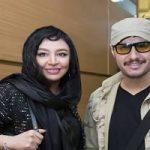 جواد عزتی به همراه همسرش در جشن حافظ