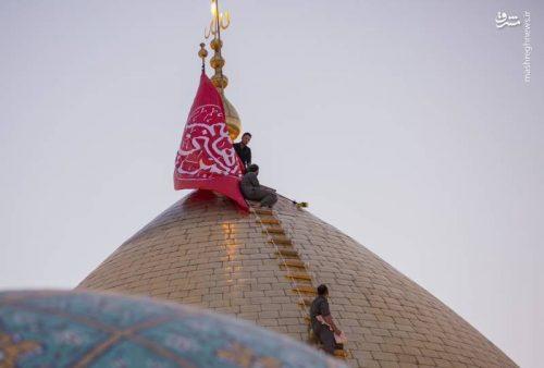 شستشوی گنبد حرم حضرت عباس