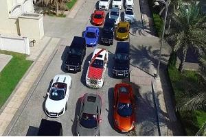 رژه با ماشین های بچه پولدار در دبی