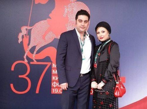 نیوشا ضیغمی به همراه همسرش