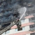 تصاویری از حادثه آتش سوزی برج بهار