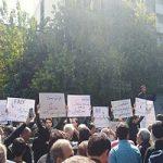 تجمع دانشجویان تهران در مقابل مجلس در مخالفت با FATF
