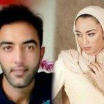 کیمیا علیزاده در بیمارستان در کنار همسرش حامد معدنچی