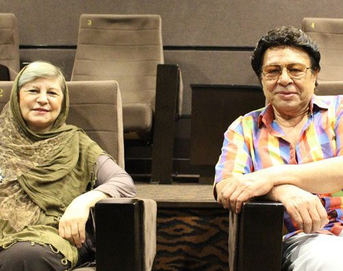 حسین عرفانی و همسرش
