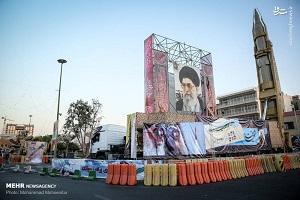 تصاویری از نمایشگاه تجهیزات نظامی در میدان بهارستان