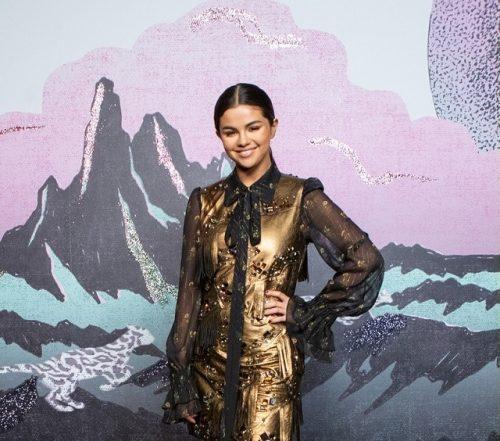 لباس خیره کننده سلنا گومز در هفته مد نیویورک