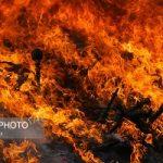 آتش زدن مواد مخدر در قم به مناسبت هفته ناجا