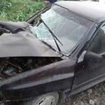 تصاویری وحشتناک از تصادف پراید مادر و دختر با گاردریل بزرگراه تهران کرج