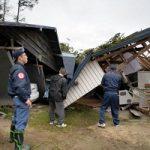 تصاویری از شدیدترین و مرگبارترین طوفان ژاپن