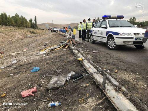 واژگونی اتوبوس در تبریز