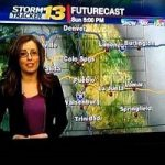 حضور گزارشگر هواشناسی با فرزندش جلوی دوربین اخبار!