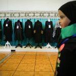 مانکنهای زن با لباس عاشورایی در تالار رودکی تهران