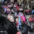 تصاویری از آتش سوزی انبار پوشاک در بازار حضرتی تهران