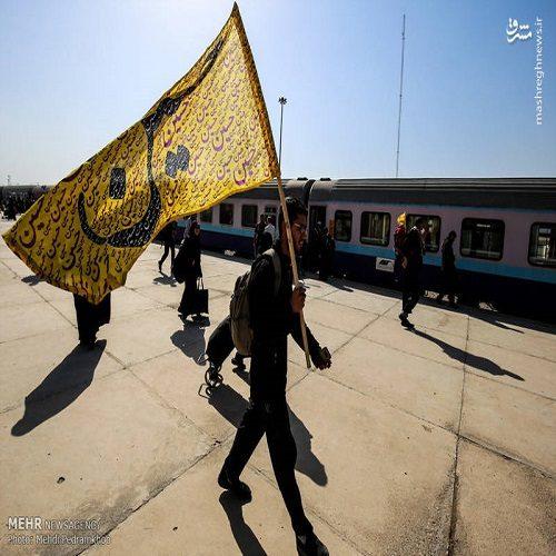 تصاویری از بازگشت زائران اربعین حسینی از کربلای معلی