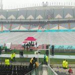 تصاویری از ورزشگاه آزادی قبل از بازی پرسپولیس و تراکتورسازی