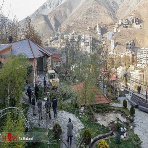 تخریب ویلای غیرمجاز در منطقه اوشان-فشم