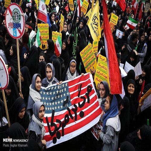 بنر جنجالی مراسم ۱۳ آبان در تهران