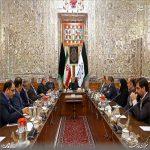 دیدار مهدی تاج با علی لاریجانی رئیس مجلی شورای اسلامی