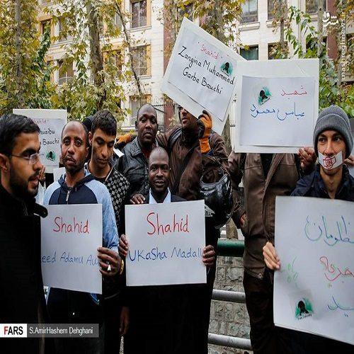 تصاویری از تجمع اعتراضی به کشتار مسلمانان نیجریه در تهران