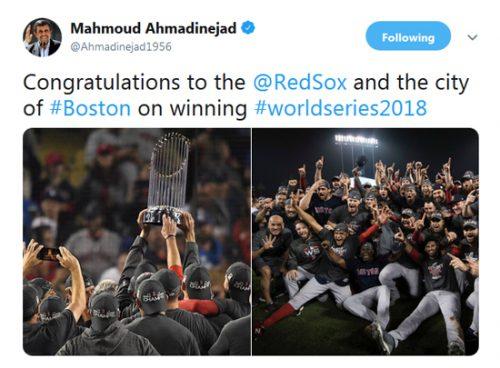 توئیت احمدینژاد
