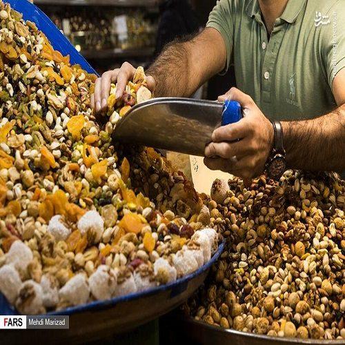 تصاویری از بازار آجیل شب یلدا + قیمت