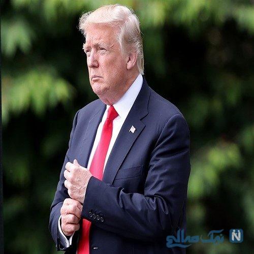 بازگشت رئیس جمهور آمریکا و همسرش به کاخ سفید