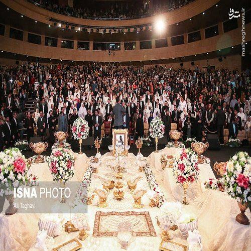 تصاویری دیدنی از جشن ازدواج معلولان در برج میلاد تهران