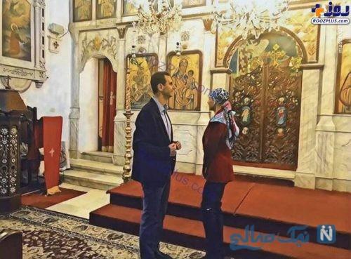 بشار اسد و همسرش اسما