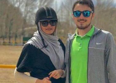 احمد خمینی و همسرش