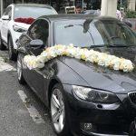 تصویری جالب از تزیین ماشین عروس متفاوت در کرمان