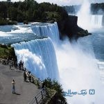 تصاویر شگفت انگیز از یخ زدن آبشار نیاگارا در کانادا
