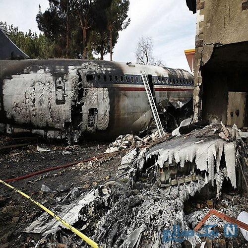 حضور خانواده قربانیان حادثه سقوط هواپیما در محل حادثه + تصاویر