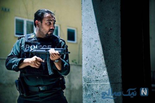 برزو ارجمند در نقش پلیس