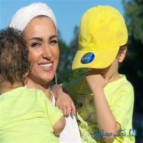 عکس روناک یونسی و فرزندانش در کانادا