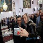 عکس های محمود احمدی نژاد با بابانوئل در مراسم سال نوی میلادی