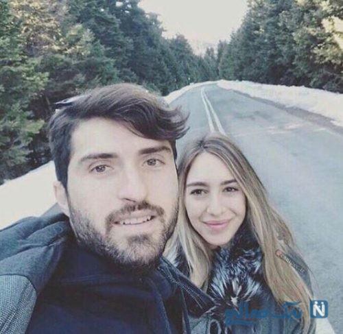 کریم انصاری فرد و همسرش
