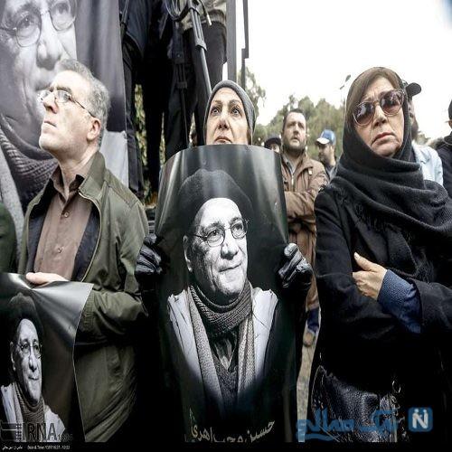 حواشی مراسم تشییع حسین محب اهری + تصاویر