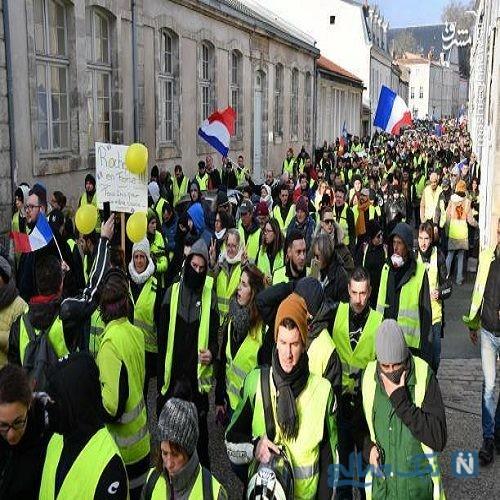 تصاویری از معترضان جلیقه زرد ها در اولین شنبه سال ۲۰۱۹