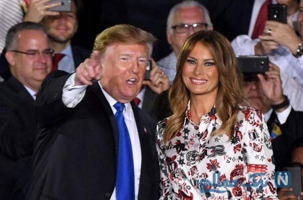 تیپ ملانیا و همسرش دونالد ترامپ در میامی آمریکا + تصاویر