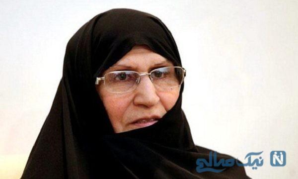 حضور زهرا مصطفوی دختر امام خمینی در راهپیمایی ۲۲ بهمن امسال
