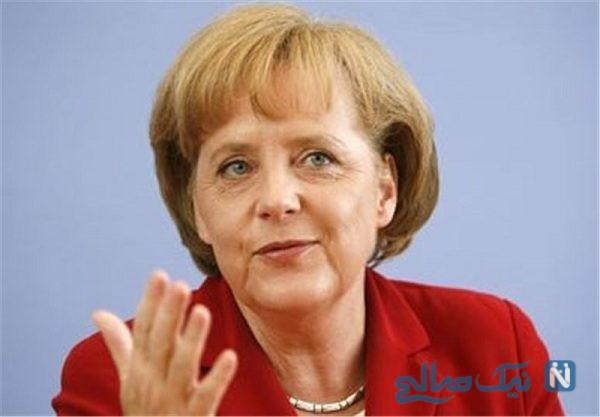 تصویری از صدراعظم آلمان در حال خرید کردن از فروشگاه