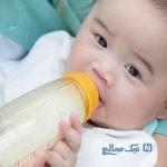 تصویری جالب از شیر خوردن کودک از منبع اصلی!