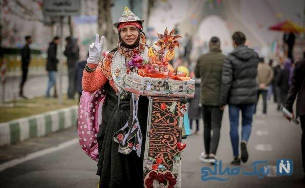 زنان در راهپیمایی 22 بهمن