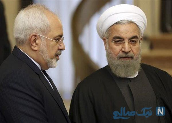چهره روحانی پس از انتشار خبر استعفای ظریف + تصاویر